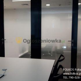 Oklejanie szyb foliowanie- Warszawa FOlkos folie okienne sprzedaż montaż Folia MGŁA
