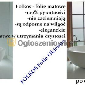 Folie na okna łazienkowe, kabiny prysznicowe ,balkony, witryny ...Oklejanie szyb Warszawa