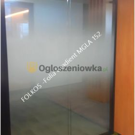 Oklejanie szyb Folia MGŁA -folia dekoracyjna do oklejania szyb wysokośc wzoru 152cm lub 210cm Folkos Warszawa